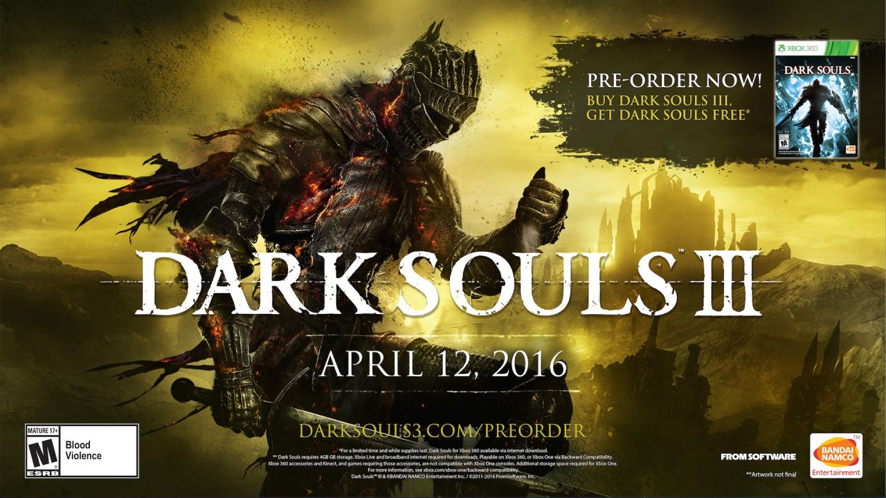 Bon Plan Xbox One : Dark Souls 3 + T-Shirt + Dark Souls Prepare to Die Edition à 29,99 euros