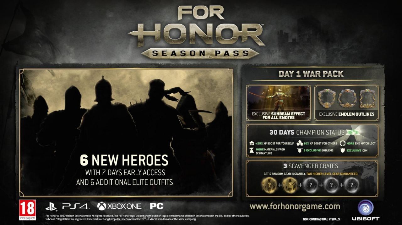 For Honor : Un season pass qui est détaillé !