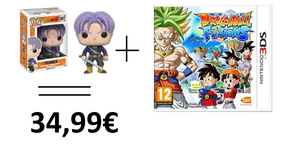 Bon Plan : Dragon Ball Fusions sur 3DS...et une figurine Funko POP Trunks gratuite à la FNAC