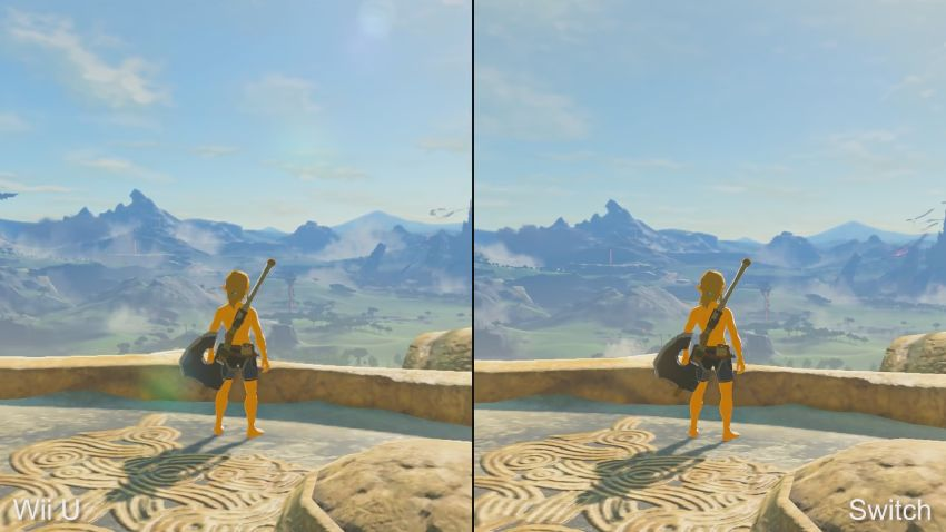 Zelda Breath of the Wild : Comparaison entre la version Switch et Wii U