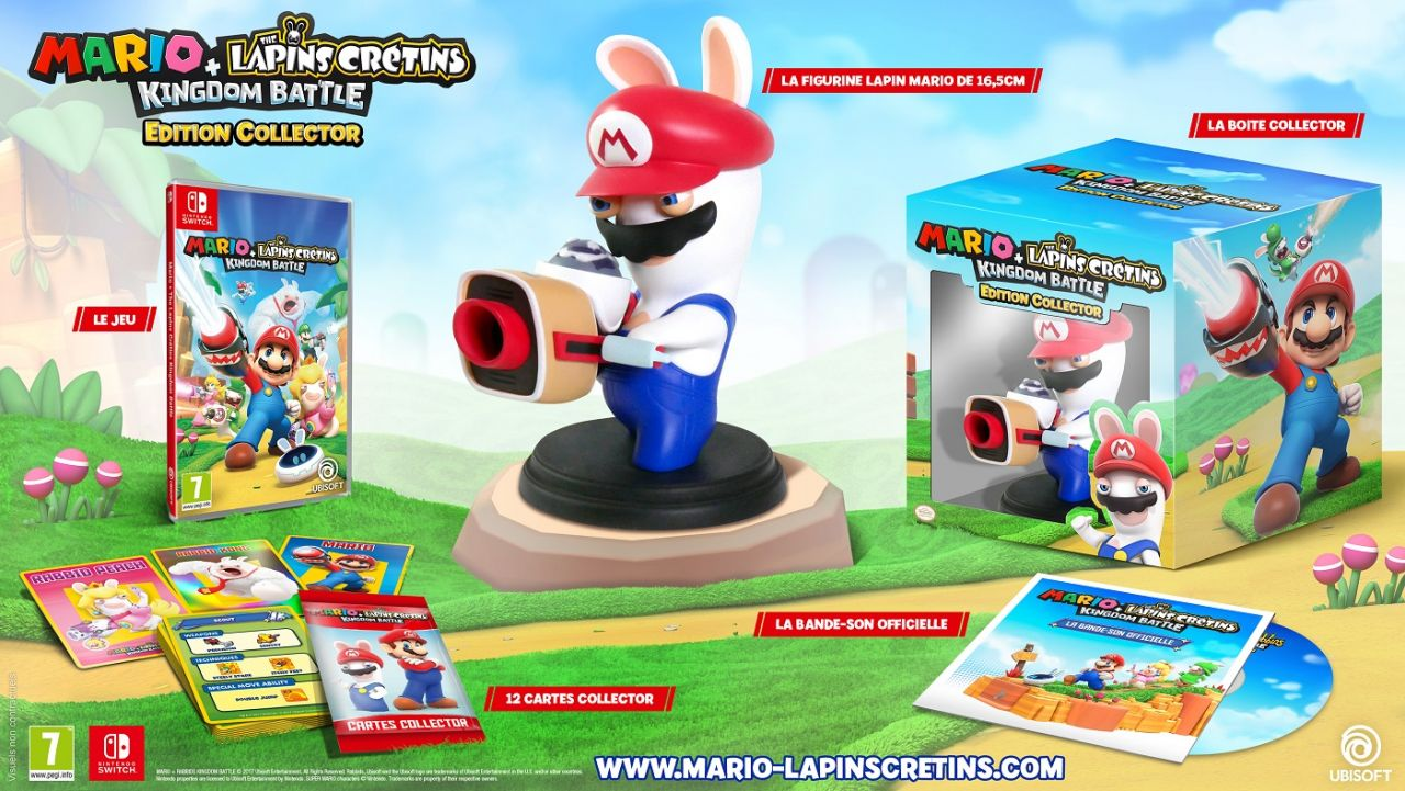 Mario + The lapins crétins - Kingdom Battle : Contenu de l'édition collector Switch, et bon plan avec un code promo !