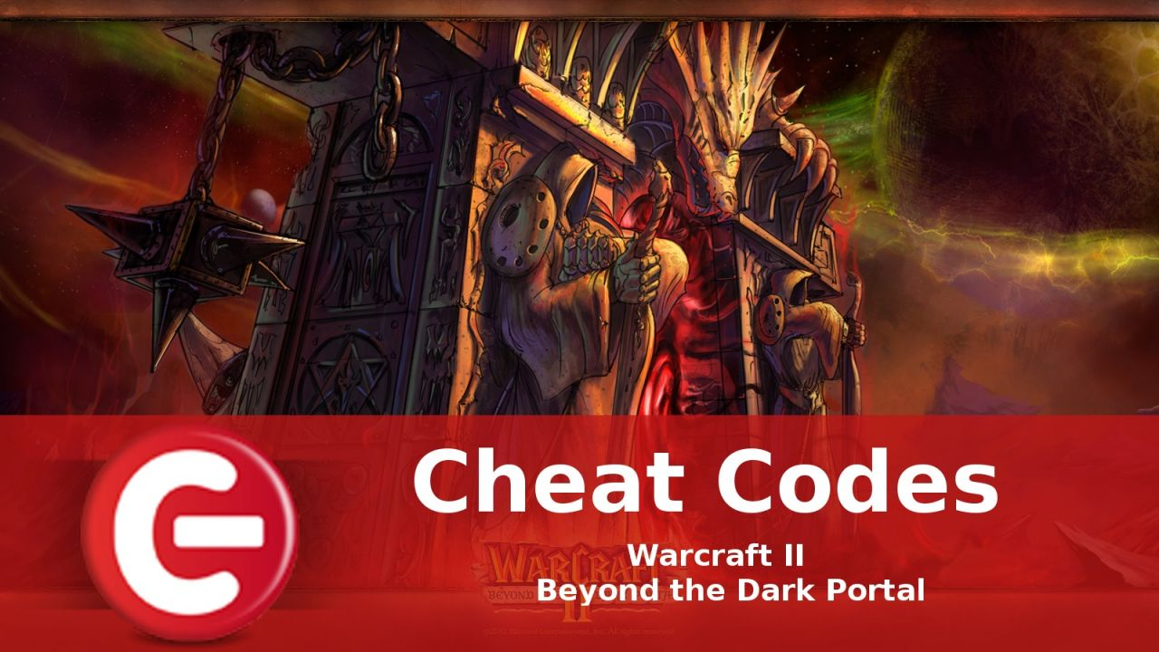 Warcraft II Beyond the Dark Portal : Soluce Cheat Codes