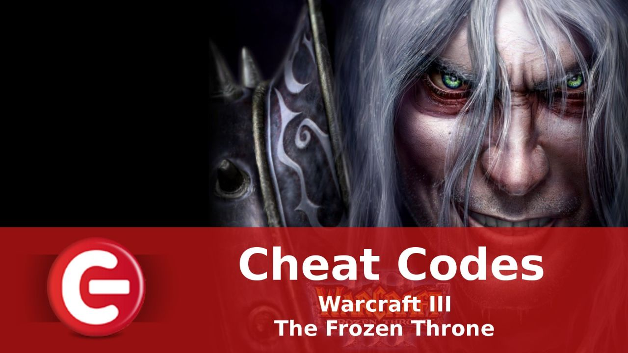 Warcraft III The Frozen Throne : Soluce Cheat Codes