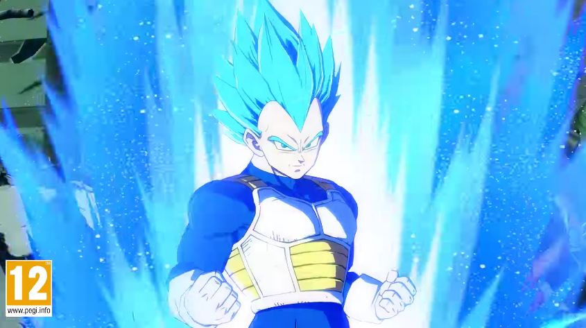 Dragon Ball FighterZ : Le trailer du personnage Vegeta en Super Saiyan Blue