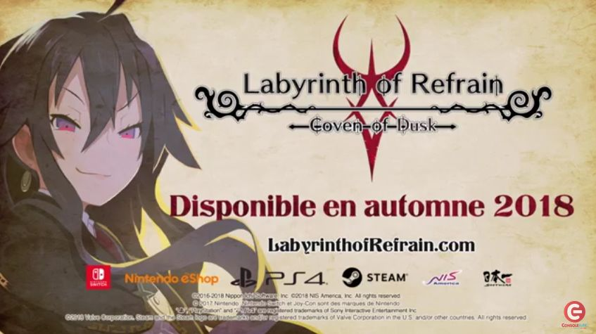 Labyrinth of Refrain : Coven of Dusk - Débarque en Europe pour l'automne 2018