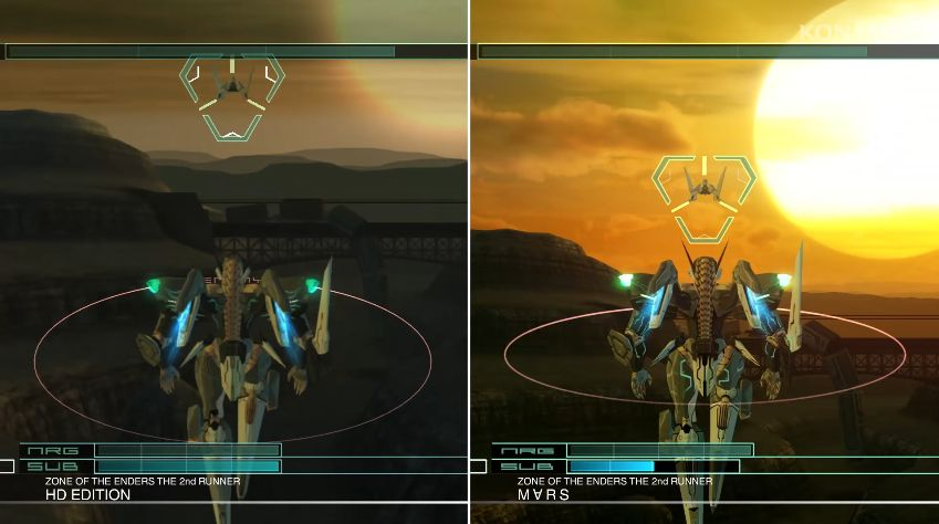 Zone of the Enders - The 2nd Runner : Un trailer comparatif des versions déjà sorties... et à venir !