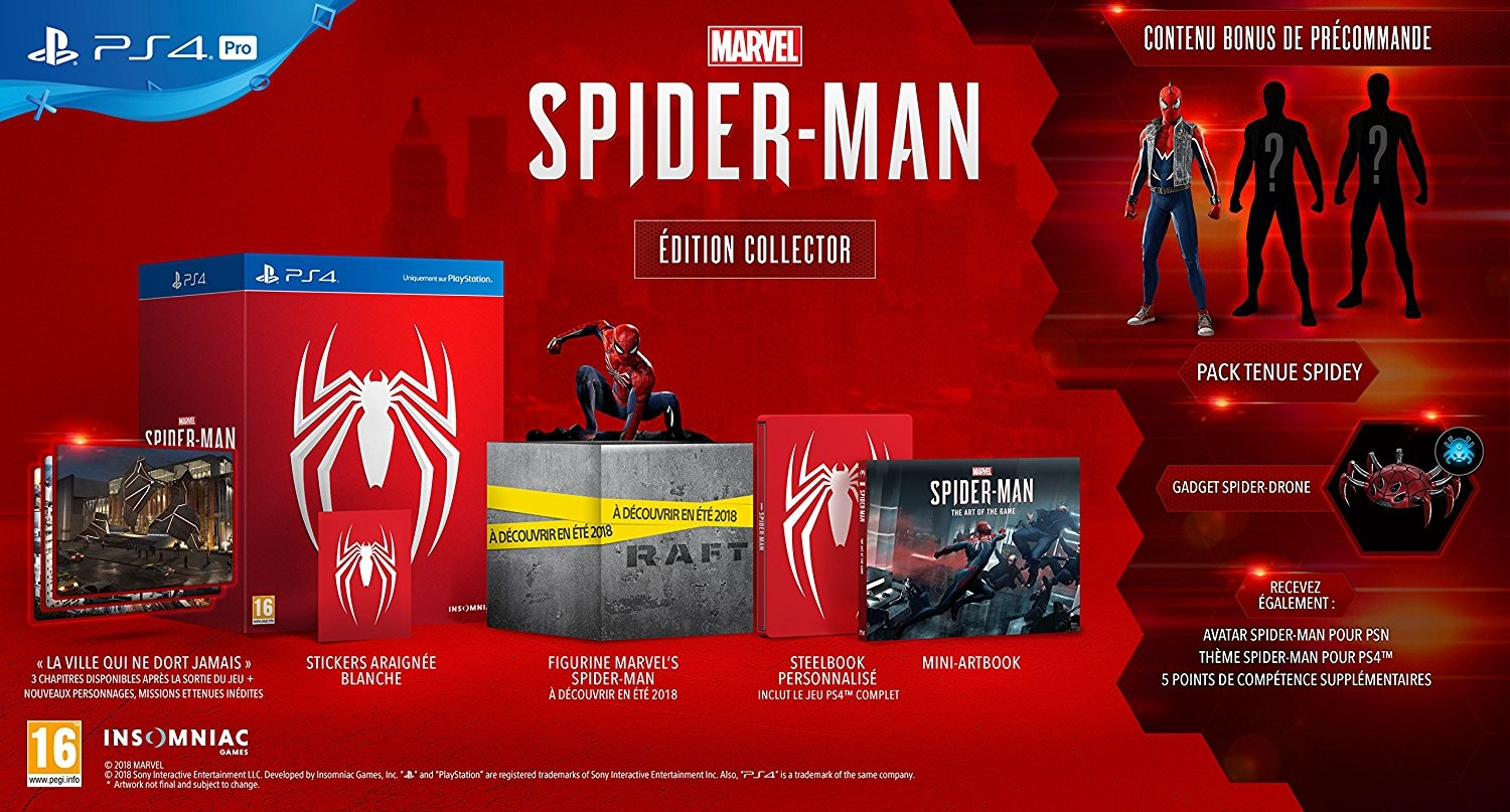 Précommande : L'édition collector de Marvel's Spider-Man (attention ruptures de stocks sur plusieurs sites...)