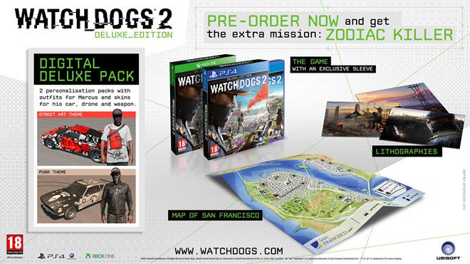 Bon Plan PS4 : Watch Dogs 2 - Deluxe Edition à 20,62 euros !