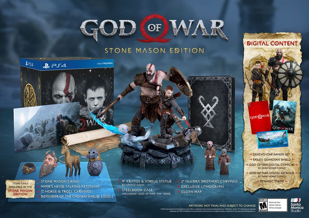 Précommande J-4 : L'édition collector de 'God of War' sur PS4