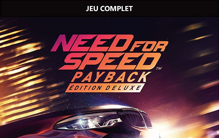 Bon Plan : Need for Speed Payback - Édition Deluxe sur Xbox One à 35,99 euros (au lieu de 69,99...)