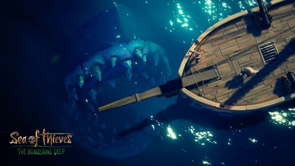 "Sea of Thieves : Le Megalodon, la nouvelle menace du DLC ""The Hungering Deep"""
