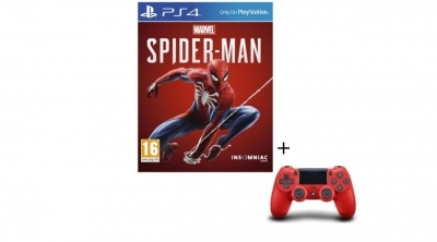 Bon Plan : Pack Marvel's Spider-Man + Manette PS4 DualShock 4 Rouge V2 à 59,99 euros (au lieu de 89,99...)