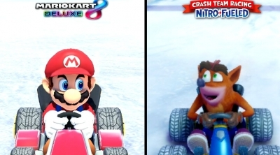 FUN : Comparatif entre Mario Kart 8 Deluxe, Crash Team Racing et Team Sonic Racing !
