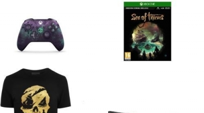 Pack Fnac 'Sea of Thieves' Manette Xbox One sans fil Microsoft Edition Limitée + Jeu + T-Shirt + Drapeau Pirate