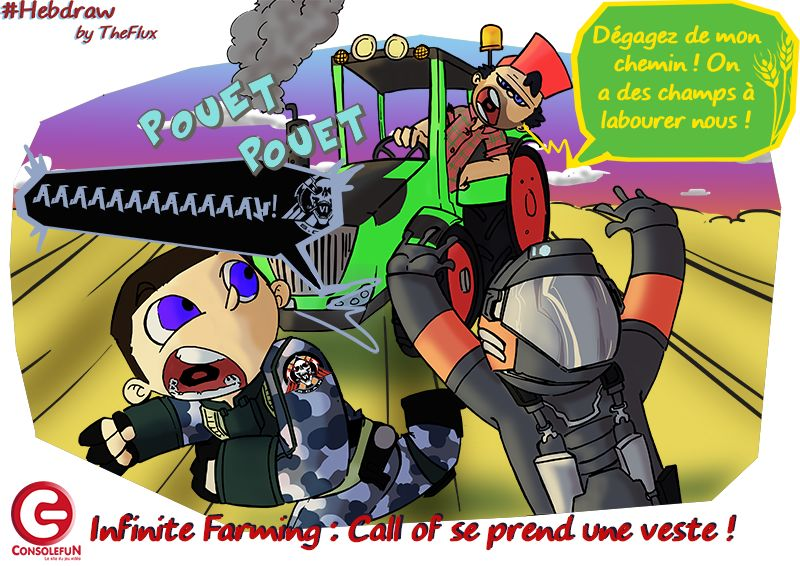 Hebdraw nº 22 : Call of Duty se prend une claque par Farming Simulator !