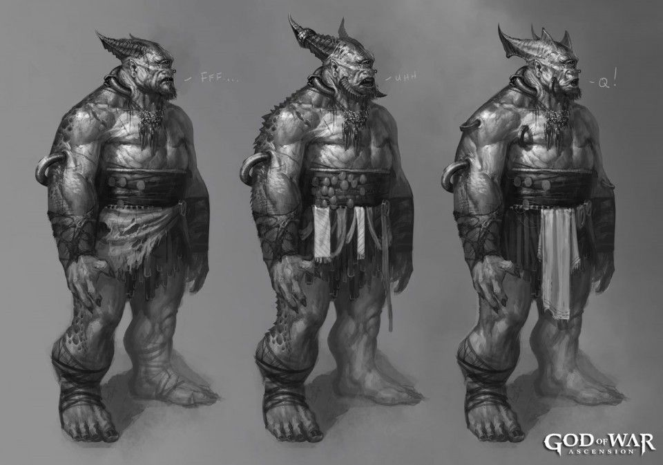 God of War Ascension : Concept arts monstrueux
