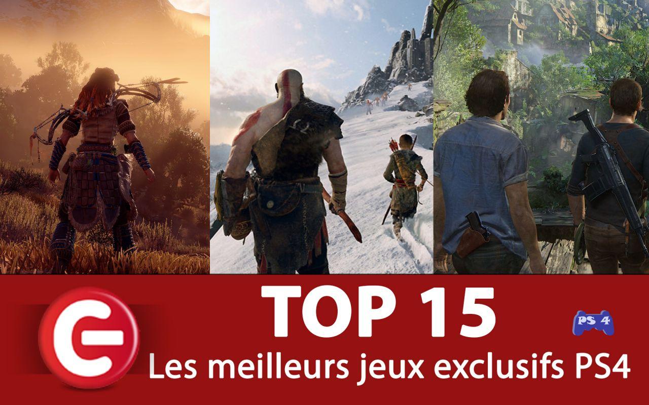 TOP 15 des JEUX EXCLUSIFS INDISPENSABLES sur PS4 !