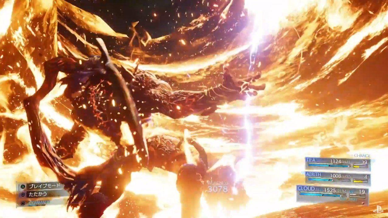 Final Fantasy VII Remake : Un combat de boss spectaculaire !