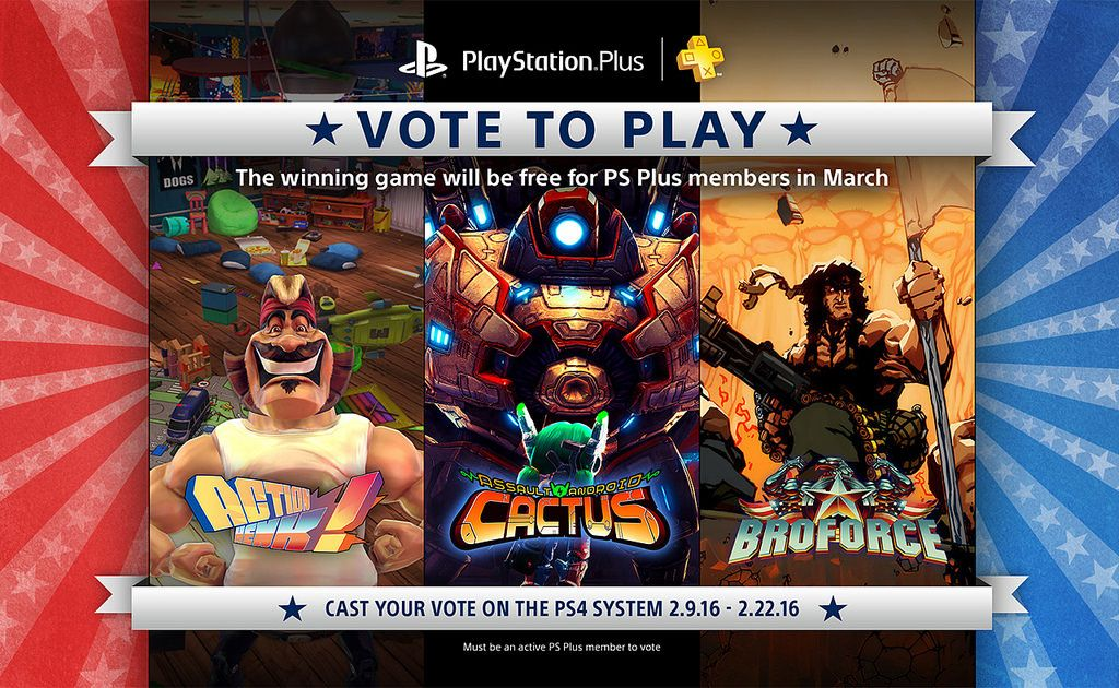 Vote to Play : Broforce vs Action Henk! vs Assault Android Cactus
