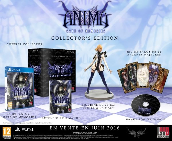 Anima Gate of Memories : Contenu de l'édition collector