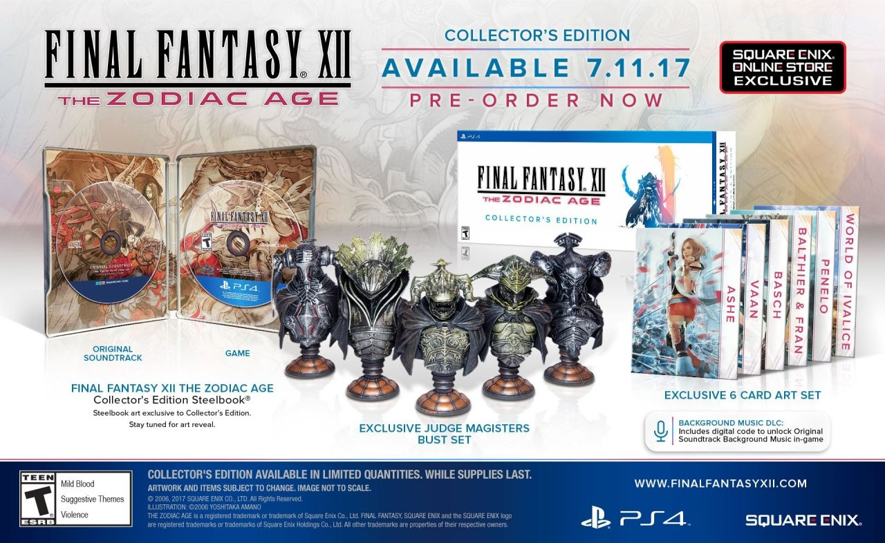 Final Fantasy XII - The Zodiac Age : que d'éditions collector !