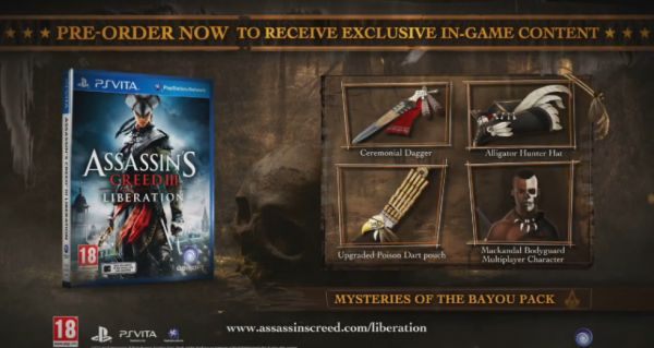 Assassin's Creed III Liberation : Bonus de pré-commande
