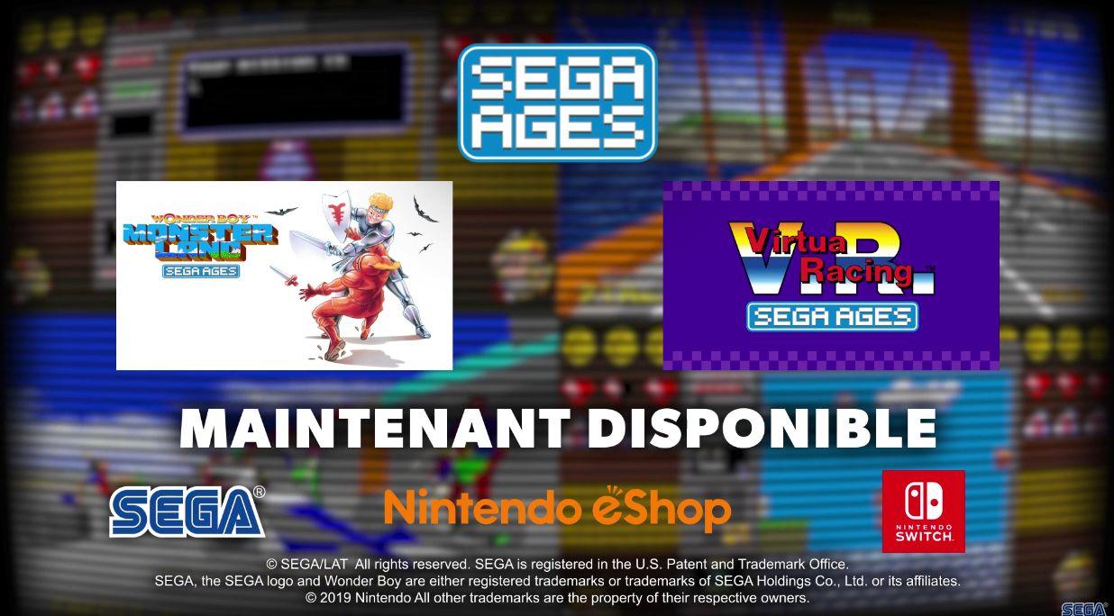 Virtua Racing et Wonder Boy Monster Land : Désormais disponibles sur Nintendo Switch !