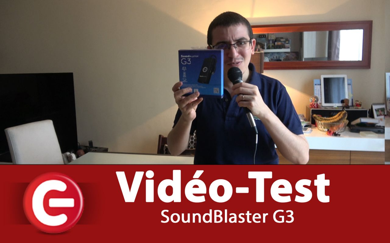 [VIDEO TEST] Soundblaster G3 - compatible PS4, Switch, MAC et PC !