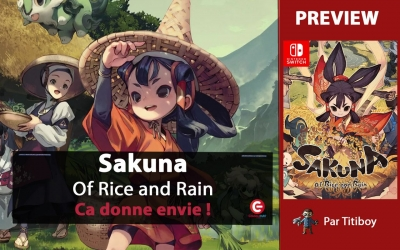 Test vidéo [PREVIEW] Sakuna : Of Rice and Ruin sur Nintendo Switch