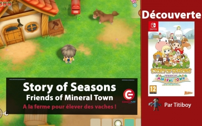 Test vidéo [VIDEO TEST] Story of Seasons : Friends of Mineral Town sur Nintendo Switch, De quoi devenir de bons agriculteurs !?