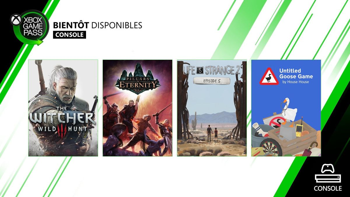 The Witcher 3 et Untitled Goose Game dans le Xbox Game Pass
