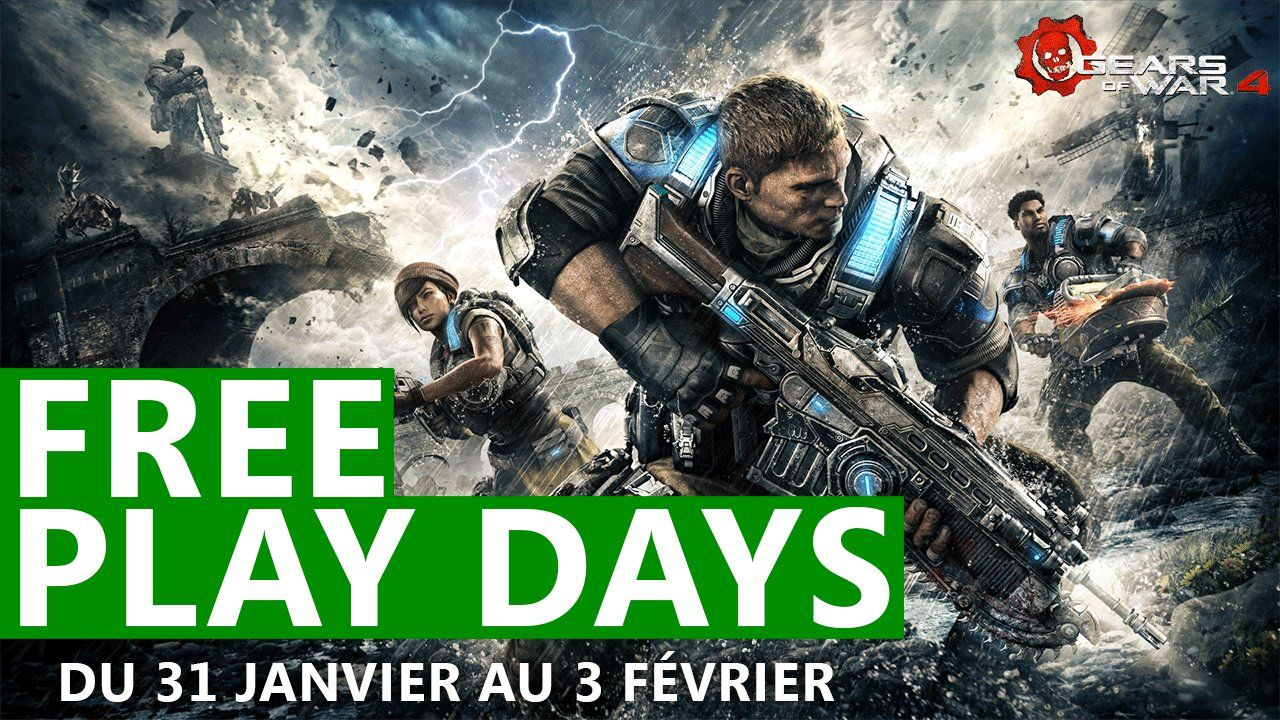 Gears of War 4 : Jouable gratuitement ce week-end !